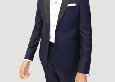 Tailors in Dubai, 2 pc Tuxedo peak lapel, Suits and Shirts